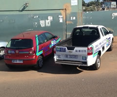 Buyisa Security Services vehicles